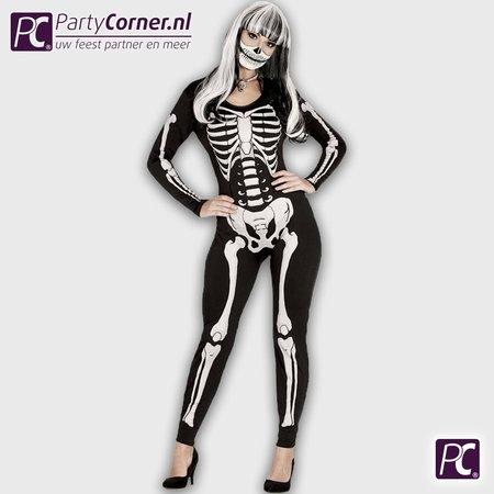 Zwarte jumpsuit sexy skelet