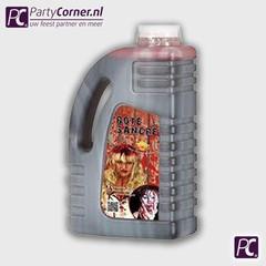 Jerrycan met 2 liter nep bloed