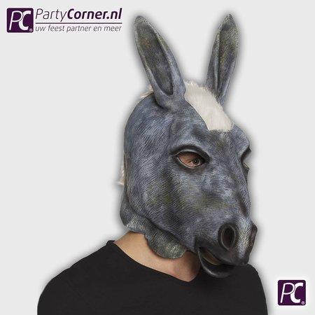 Latex masker ezel kopen