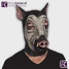 Latex masker wild zwijn