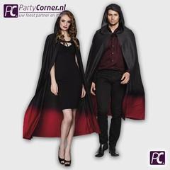 Rood zwarte cape