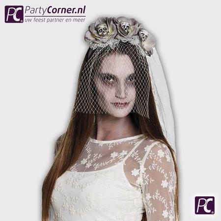 Zombie bruidssluier voor zombie bruid