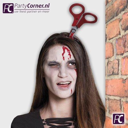 Halloween diadeem horror schaar