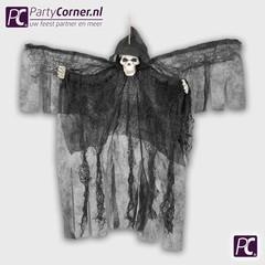 Zwarte doodskop met vleugels decoratie