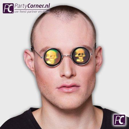 Hologram bril met doodskop kopen
