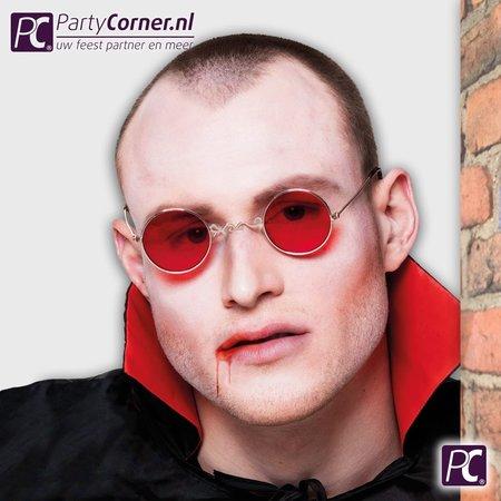 Halloween ronde bril rood