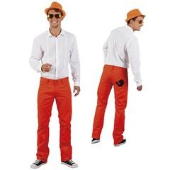 Oranje spijkerbroek heren