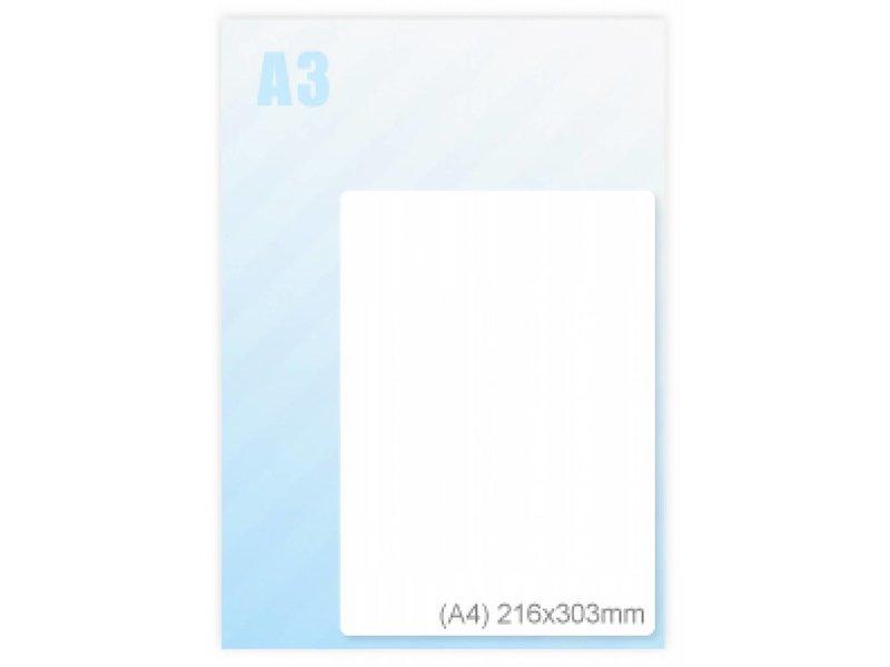 Albyco Zelfklevende lamineerhoes Sticky back A4 (216x303mm)