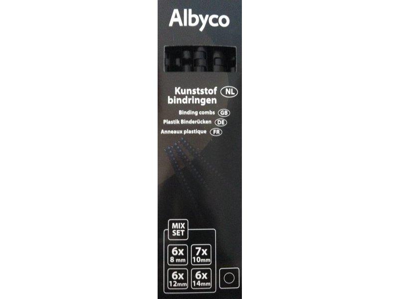 Albyco Plastic bindringen Zwart 21-rings A4, div. maten