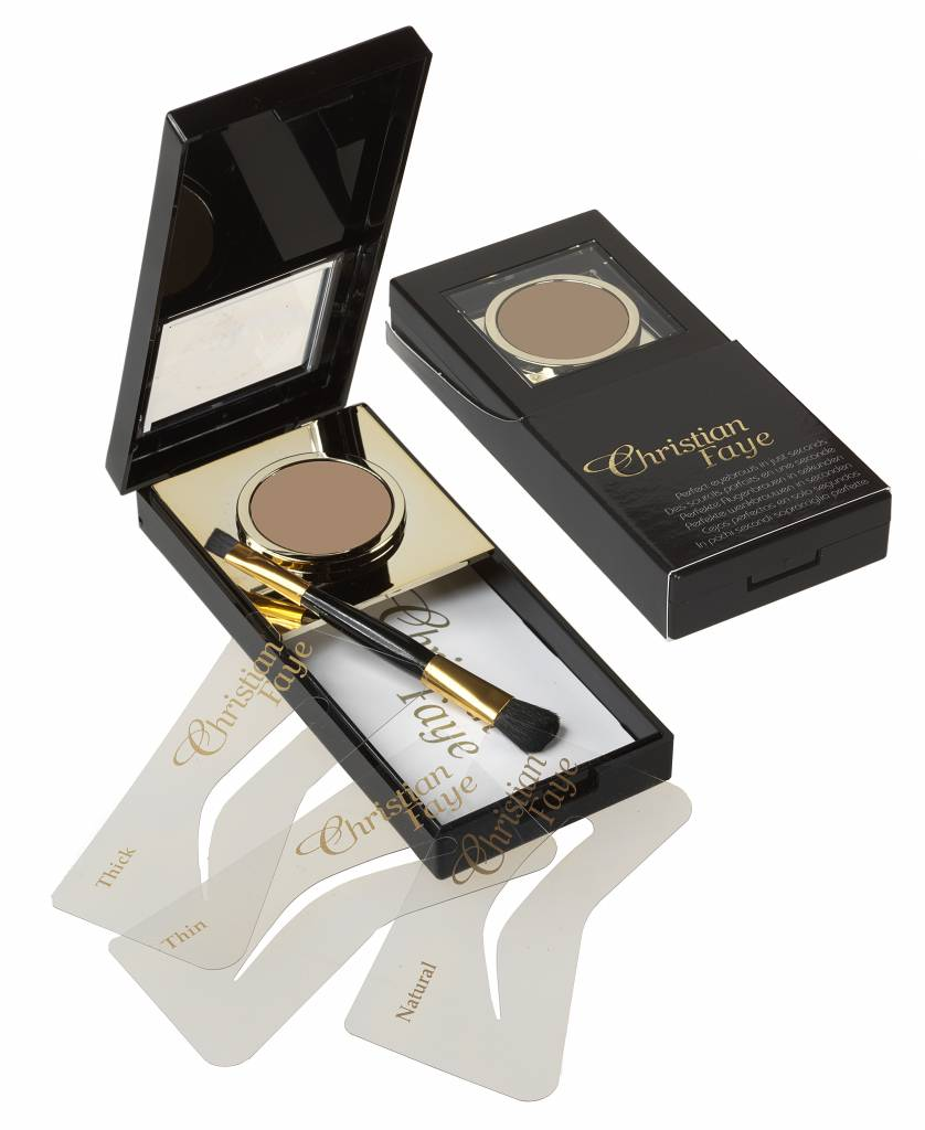 Christian Faye Eyebrow Powder Complete With Stencils And Brush