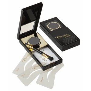 CHRISTIAN FAYE Eyebrow Powder, complete with stencils and brush - Black