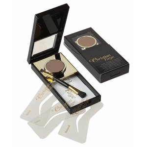 CHRISTIAN FAYE Eyebrow Powder, complete with stencils and brush - Irid Brown