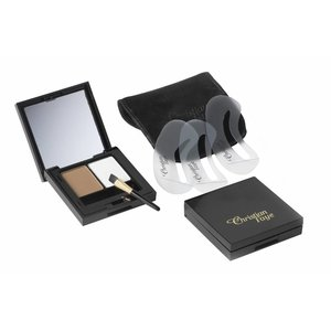 CHRISTIAN FAYE Augenbrauenpuder DUO Highlighter Kit, komplett mit Schablonen und Pinsel - Medium