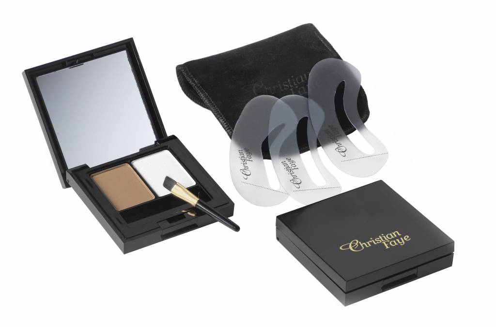 Christian Faye Eyebrow Make Up Duo Highlighter Set Complete With