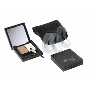 CHRISTIAN FAYE Augenbrauenpuder DUO Highlighter Kit, komplett mit Schablonen und Pinsel - Light