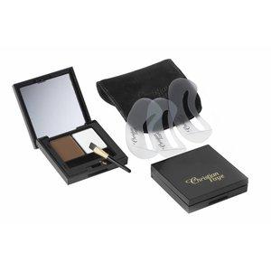 CHRISTIAN FAYE Sopracciglio DUO Highlighter kit polvere, completa di modelli e pennello - Dark