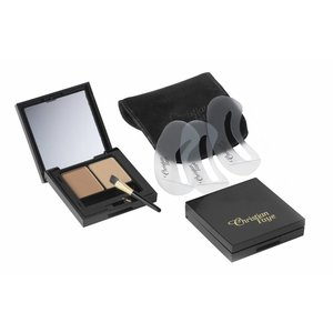 CHRISTIAN FAYE Eyebrow Make Up DUO set, complete with stencils and brush - Brown