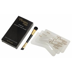 CHRISTIAN FAYE Eyebrow powder brush / stencil set