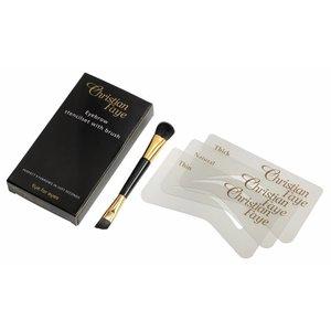 CHRISTIAN FAYE Eyebrow powder brush / stencil set
