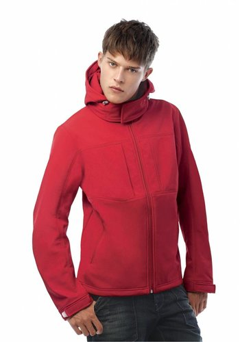 B & C Collection Hooded Softshell jas heren