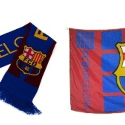 Barcelona sjaals en vlaggen