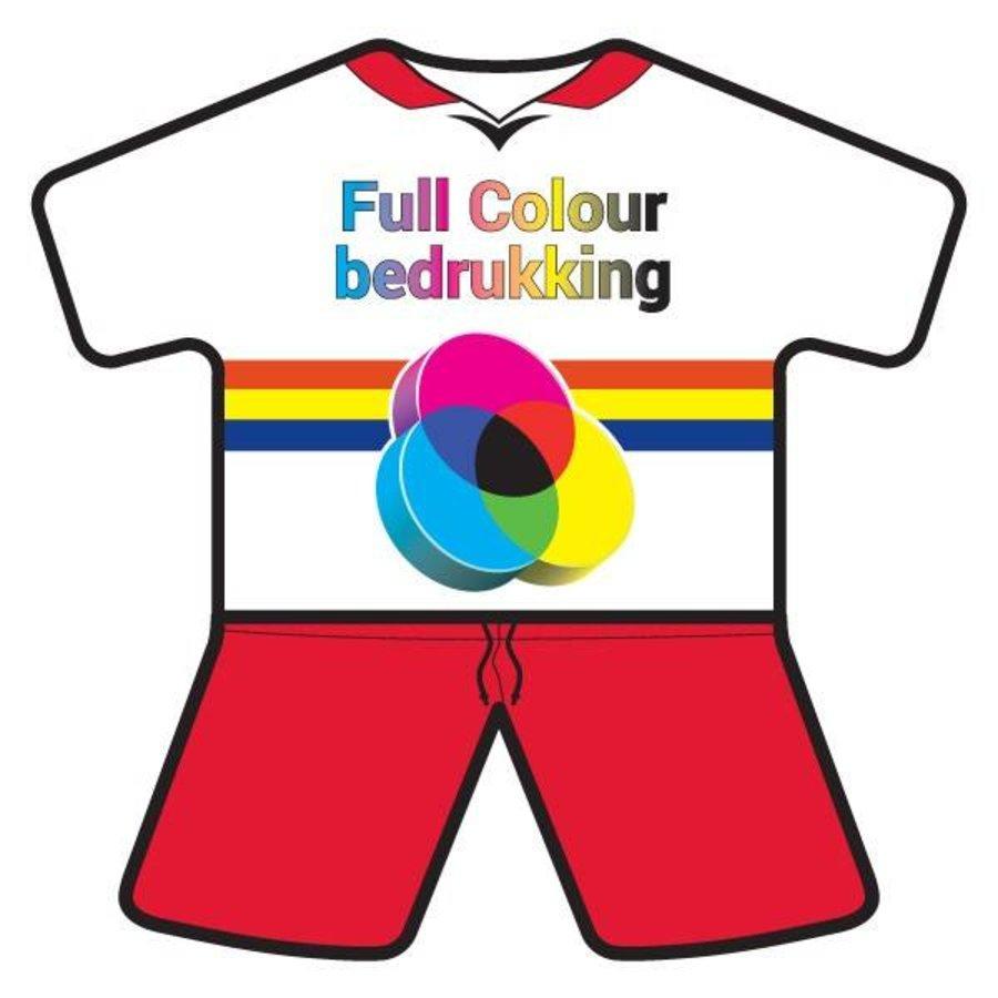 mini-tenue volgens de clubkleuren