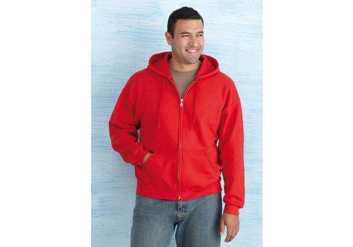 Gildan Hooded sweater met rits