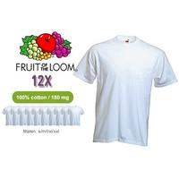 12 witte T-shirts tegen een scherpe prijs