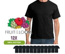 Fruit of the Loom Zwarte T -shirts per 12 stuks