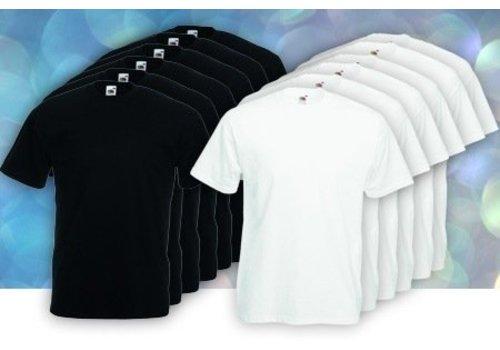 Fruit of the Loom Combinatie set Zwart / witte T -shirts per 12 stuks