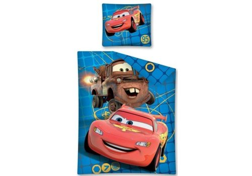 Cars Dekbed Cars 2 blauw ruit