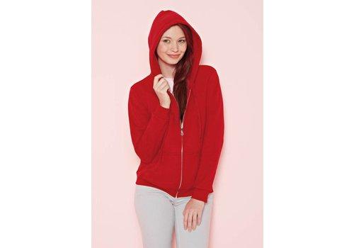 Gildan Hooded sweater met rits damesmodel