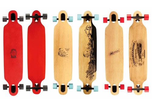"Nijdam Longboard 42"" Drop trough Wooden Warrior"