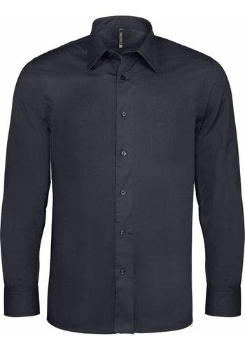 Kariban Heren stretch overhemd lange mouw