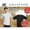B & C Collection 10 pack T shirt wit of zwart