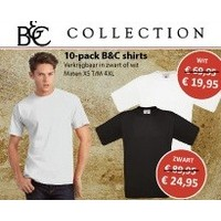 10 pack T shirt wit of zwart