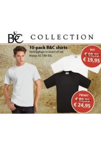 B & C Collection 10 pack T shirt