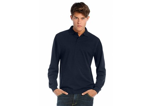 B & C Collection polo shirt heren Long sleeve
