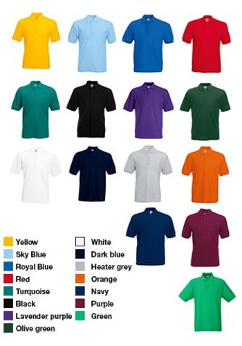 Fruit of the Loom polo shirt herenmodel