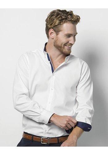 Kustom Kit Contrast premium Overhemd lange mouw