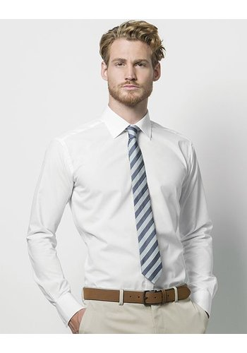 Kustom Kit Slim fit business shirt lange mouw