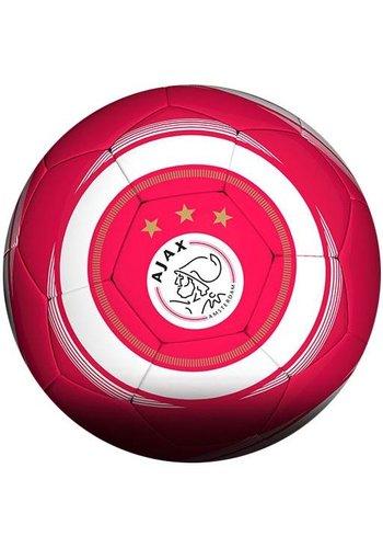 AJAX  Bal ajax leer groot rood/wit cirkel