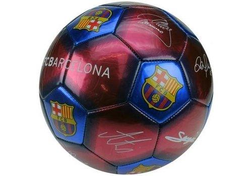 FC Barcelona Bal barcelona leer groot blauw/rood handtekeningen