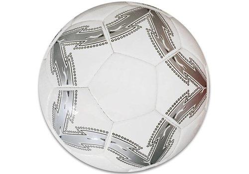 Bal leer groot wit/zilver