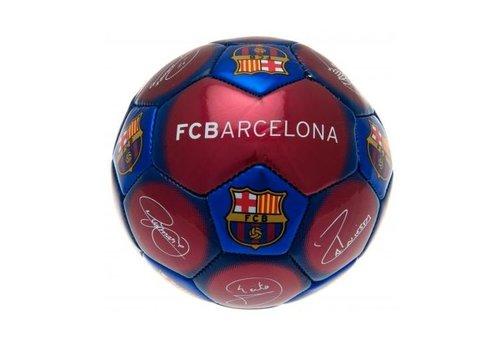 FC Barcelona Bal barcelona leer middel blauw/rood handtekeningen