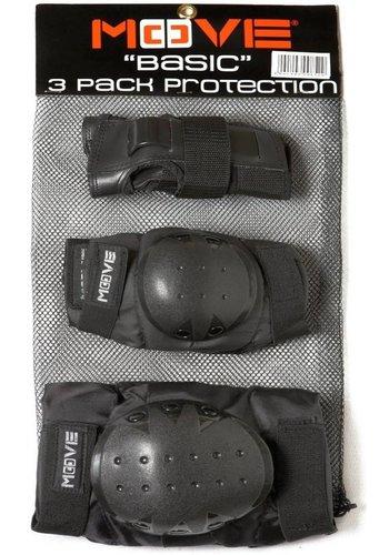Beschermset Move junior zwart (2600000)