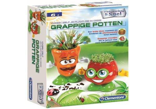 Kweek zelf plantjes in grappige potten Clementoni (66413.9)