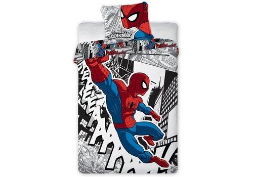 Dekbed Spider-Man cartoon: 140x200/70x90 cm