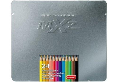 Kleurpotloden in blik MXZ: 24 stuks (7524M24)