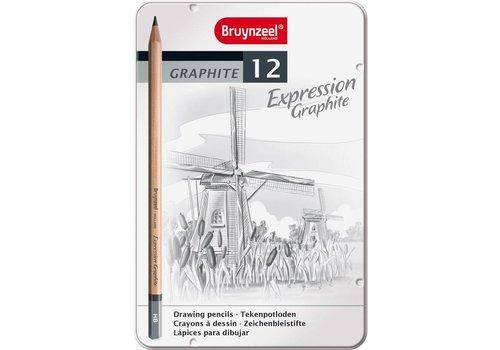 Grafietpotloden in blik Expression: 12 stuks (7715M12)